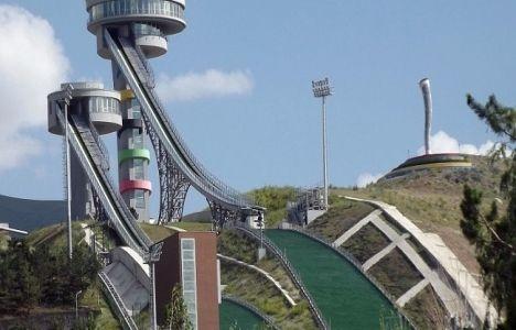 Erzurum'daki atlama kulelerinin inşaatında sona yaklaşıldı!
