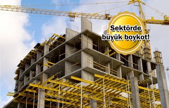 60 bin şantiyede inşaatlar durdu!