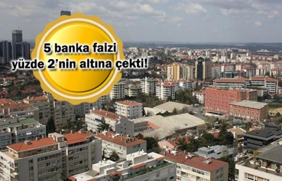 Konut kredi faiz oranları yüzde 2'nin altındaki bankalar!