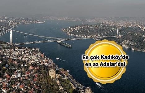 İstanbul'da konutların yüzde