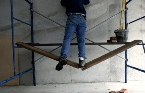 Kayseri'de inşaat işçisi