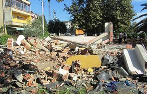 Kocaeli Dilovası'ndaki kaçak binalar yıkıldı!