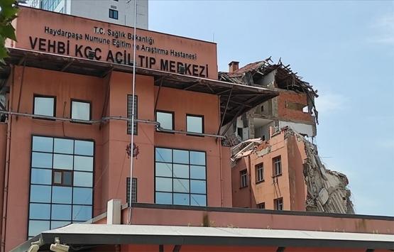 Haydarpaşa Numune Hastanesi'ndeki 8 katlı binanın yıkımı başladı!