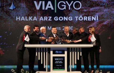 VIA GYO senetleri Borsa İstanbul'da işlem görmeye başladı!