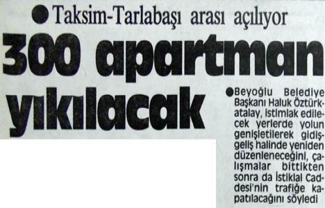 1986 yılında Taksim-Tarlabaşı