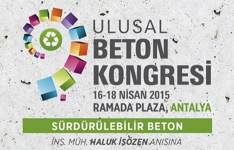 9. Ulusal Beton Kongresi 16-18 Nisan'da!