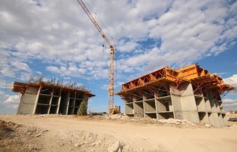 Konya'daki bir inşaatta