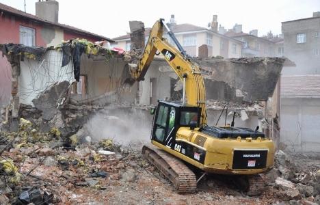 Odun Pazarı Meydan Yeri ve Otopark Projesi'nde yıkım başladı!