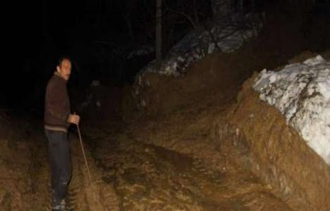 Kastamonu'da heyelan köylüleri sokakta bıraktı!