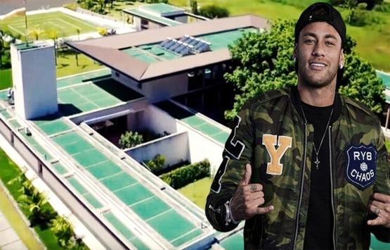 Neymar'ın 7 milyon sterlinlik rüya evi!