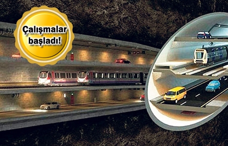 3 Katlı Büyük İstanbul Tüneli'nde ilk kazma vuruldu!
