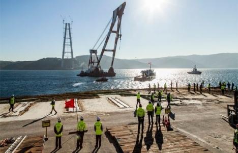 3.Köprü'ye 450 tonluk tabliye monte edildi!