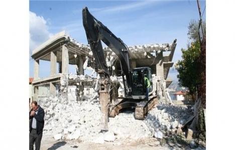 Marmaris'te inşaatı mühürlenen