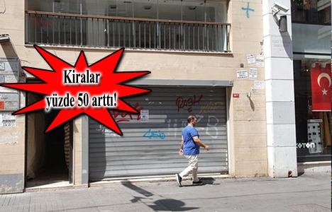 Mal sahiplerinin hırsı cadde dükkanlarını boşalttı!