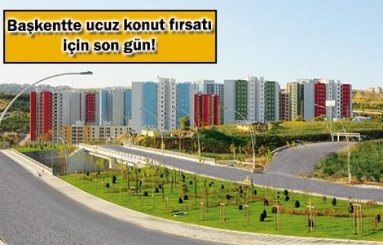 TOKİ Kuzey Ankara Kent Girişi başvuruları bugün sona eriyor!