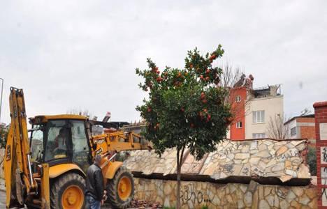 Nazilli'de barlar sokağından kalan duvar da yıkıldı!