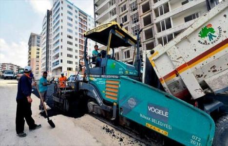 Ankara Mamak'ta asfalt çalışmaları gerçekleştirildi!