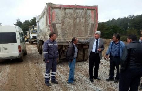 Kütahya'da yol onarım çalışmaları incelendi!