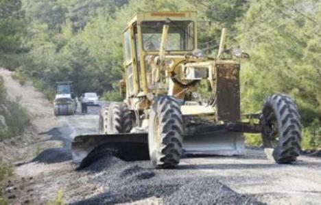 Mersin kırsalında asfaltsız