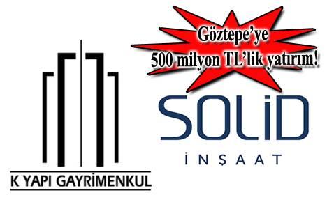 K Yapı ve Solid İnşaat ortaklığı Göztepe'de karma proje hazırlığında!