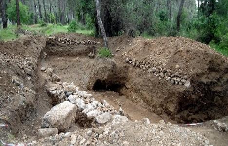 Antalya Kemer otel inşaatında tarihi yapı bulundu!