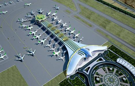 Türkmenistan'da Polimeks'in inşa ettiği havaalanı hizmete açıldı!