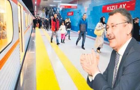 Ankara'da metro sefer
