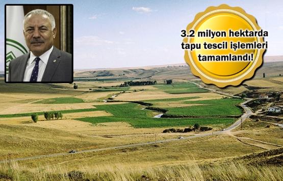 Arazi toplulaştırmasında hedef 8,5 milyon hektar!