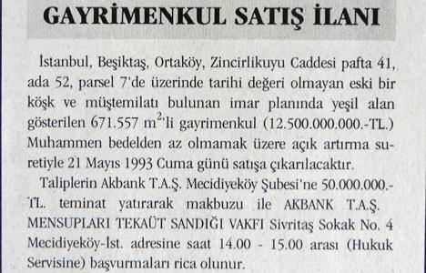 1993 yılında Ortaköy'de