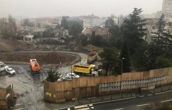 Etiler polis okulu arazisinde inşaat çalışmaları başladı!