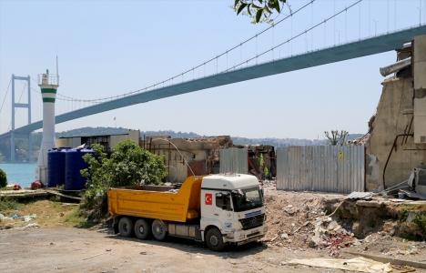 Boğaz'daki yıkılan kaçak