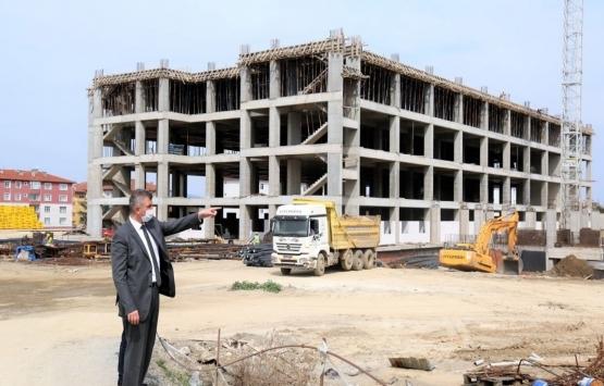 Gölcük Yeni Devlet Hastanesi'nin inşaatında sona gelindi!