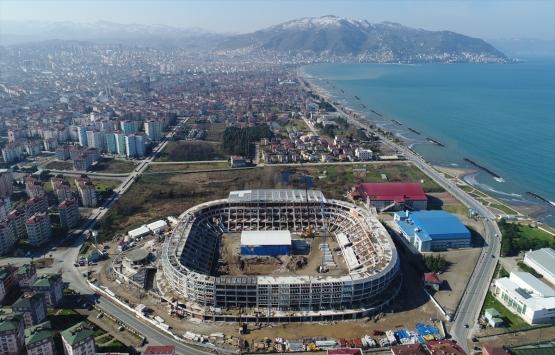 Yeni Ordu Stadı'nın kaba inşaatı tamamlandı!