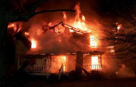 Zonguldak'ta bir evde yangın çıktı!