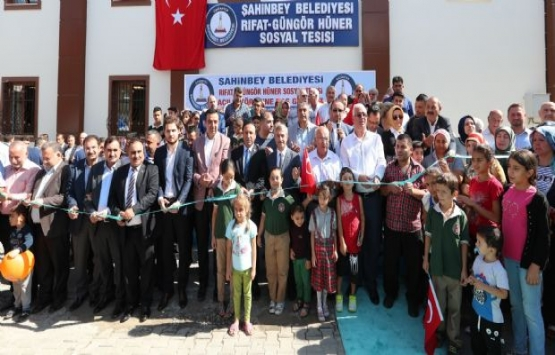 Şahinbey Rıfat Güngör Hüner Sosyal Tesisi açıldı!