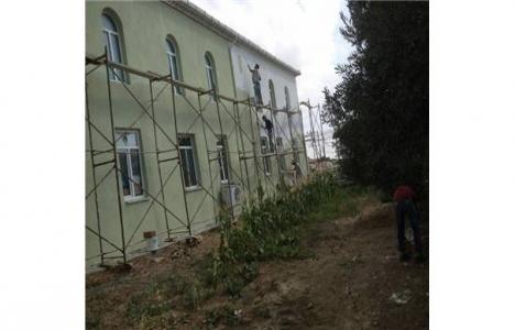 Çanakkale Bakırköy Camii'nde onarım çalışmaları başladı!