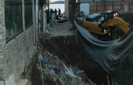Bodrum Kumbahçe'de bir otel inşaatında göçük meydana geldi!