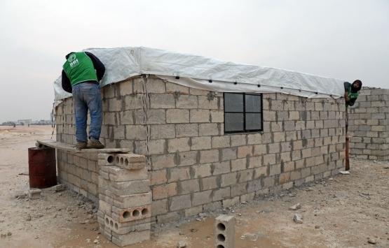 Cideliler İdlib'de 45 briket ev inşa ettirecek!
