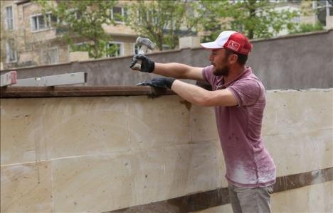 Nevşehirli inşaat işçileri