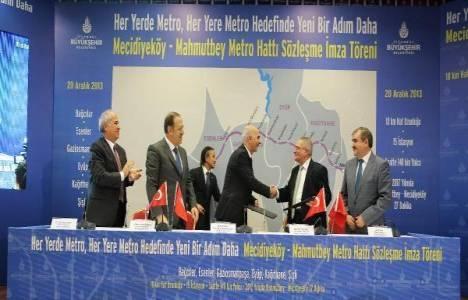 Mecidiyeköy-Mahmutbey metrosu için imzalar atıldı!