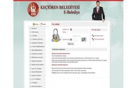 Keçiören'de E-Belediyecilik uygulaması