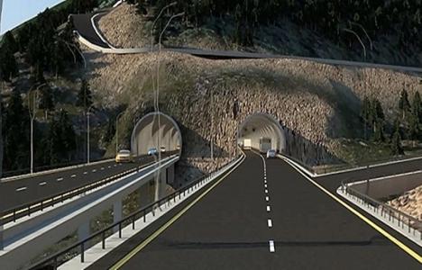 Zigana Tüneli'nin inşaatı