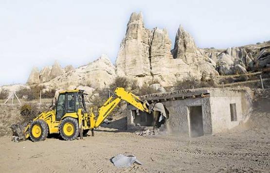 Kapadokya'da kaçak yapı avı!