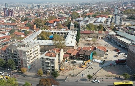 Bursa Hanlar Bölgesi'nde çok katlı binalar yıkılıyor!