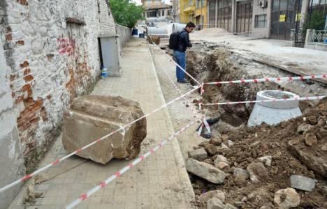 Muğla Milas'taki altyapı çalışmalarında tarihi eser kalıntılarına rastlandı!