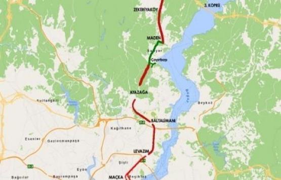 Dolmabahçe-Levazım-Baltalimanı-Ayazağa Tünelleri imar