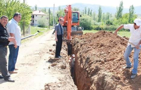 Afyon Dinar'da kanalizasyon