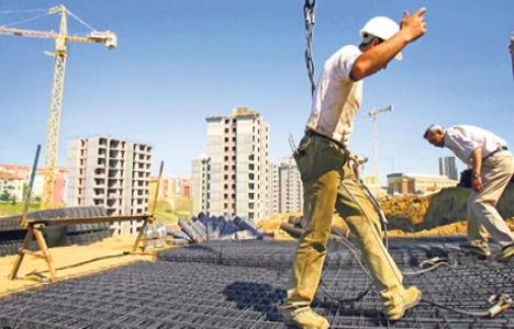 Kırşehir'de inşaat sektörüne kış engeli!