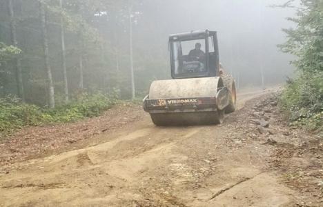 Düzce Akçakoca'daki orman yolunda çalışmalar tamamlandı!