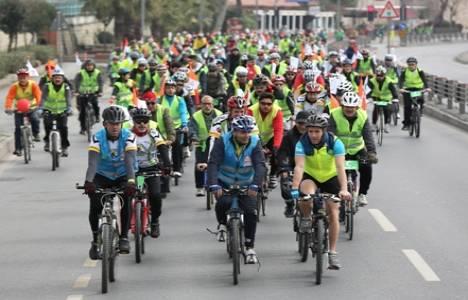 Yeşilay Haftası için İstanbul Tarihi Yarımada'da bisiklet turu düzenlendi!